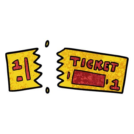 cartoon ticket
