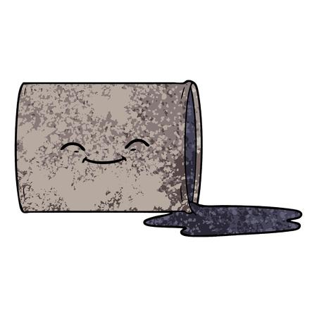 cartoon happy oil drum