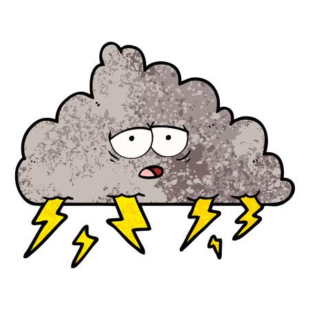 cartoon storm cloud Vector illustration.