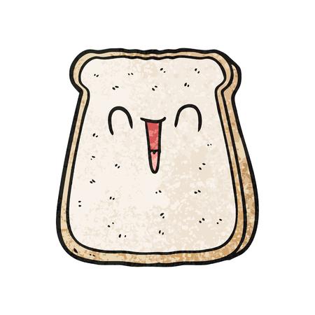 Hand drawn cartoon slice of bread
