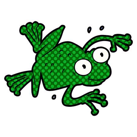 Hand drawn cartoon frog Banque d'images - 96648915