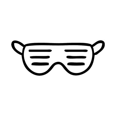 cartoon sunglasses Ilustração