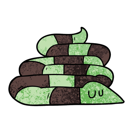 cartoon sleepy snake Illustration