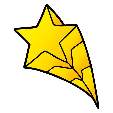 cartoon shooting star 向量圖像