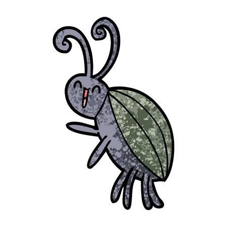 cartoon happy beetle Иллюстрация