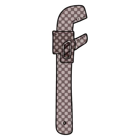 Hand drawn cartoon wrench