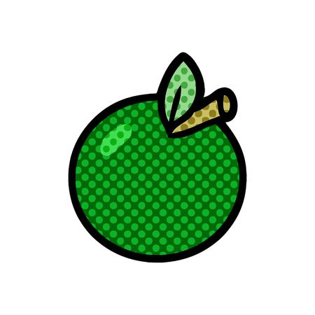 Hand drawn cartoon apple Ilustração