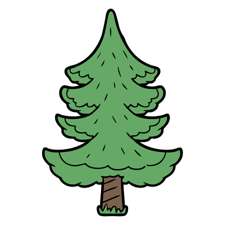 Hand drawn cartoon tree Иллюстрация