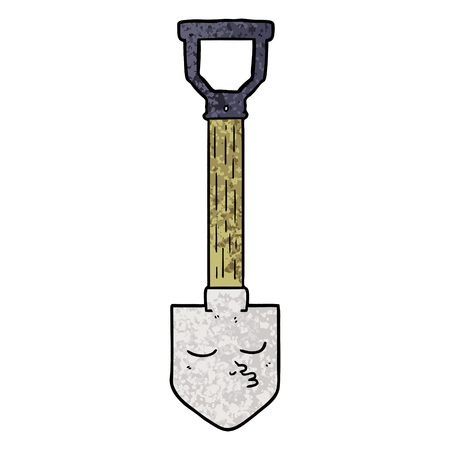 Hand drawn cartoon shovel