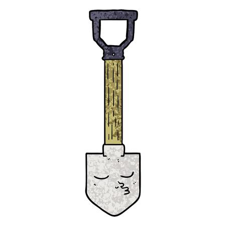 Hand drawn cartoon shovel