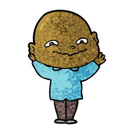 cartoon creepy guy Ilustração