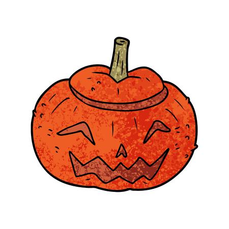 Hand drawn cartoon Halloween pumpkin