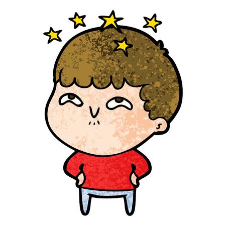 cartoon amazed boy