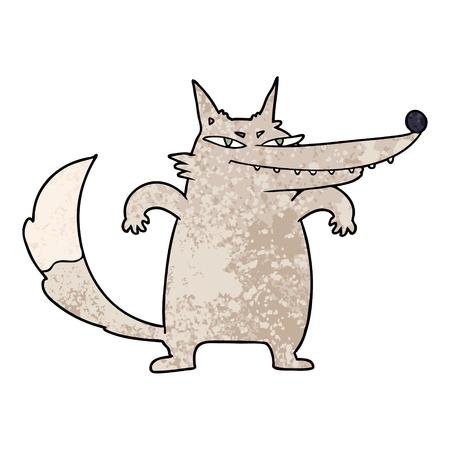 sly cartoon wolf Illustration