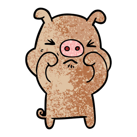 cartoon grumpy pig