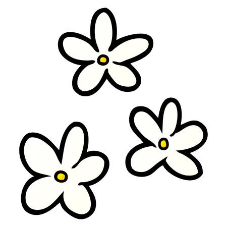 Cartoon flowers illustration