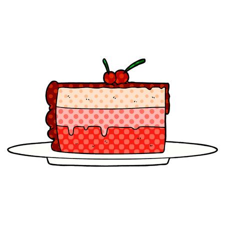 Cartoon cake illustration Ilustração