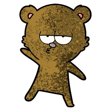 bored bear cartoon 일러스트