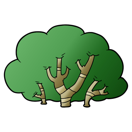 cartoon trees 向量圖像