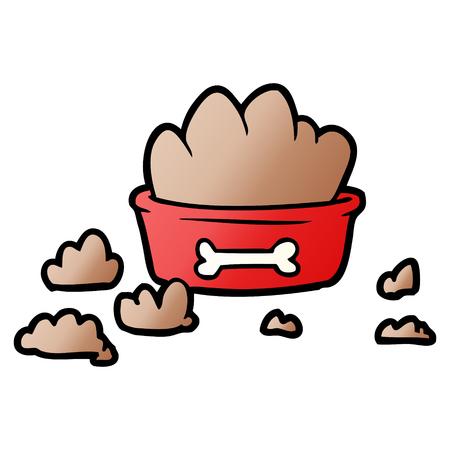 Cartoon messy dog food illustration