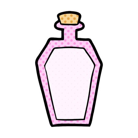 Cartoon pink perfume bottle