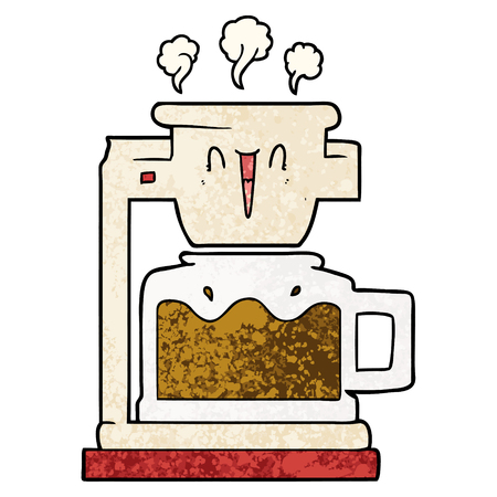 steaming hot coffee pot