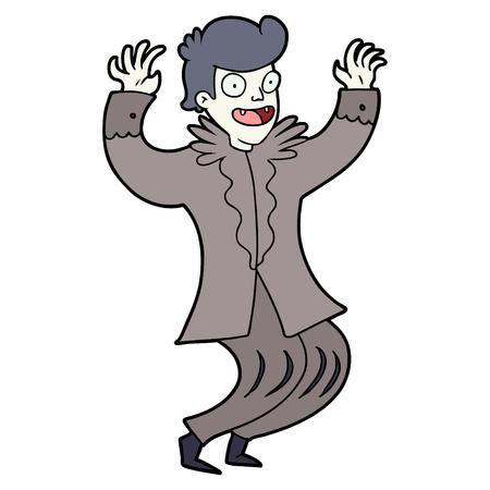 Crazy cartoon vampire illustration