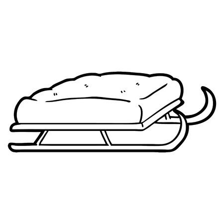 Cartoon sledge illustration Stock Illustratie