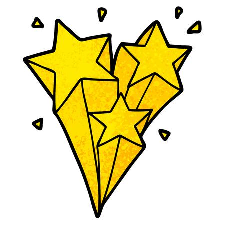 dibujos animados de estrellas fugaces