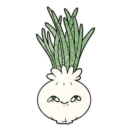 Cartoon onion 向量圖像