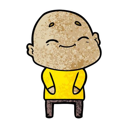 Happy cartoon bald man Standard-Bild - 96609421