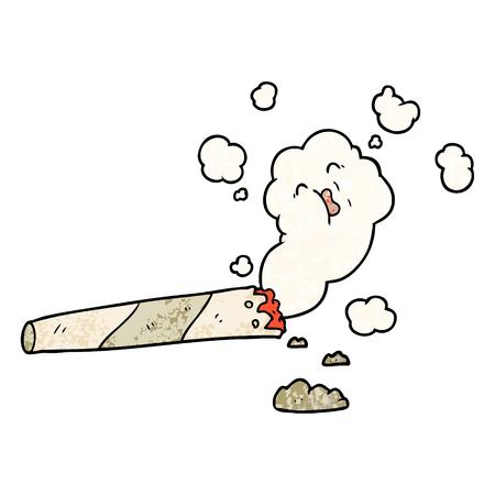 Cartoon Zigarette rauchen Standard-Bild - 96609500