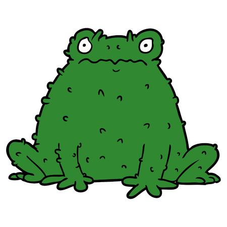 Cartoon toad Иллюстрация