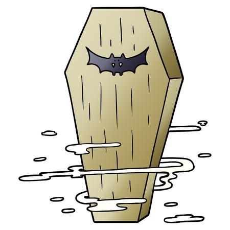 cartoon spooky coffin Archivio Fotografico - 96624799