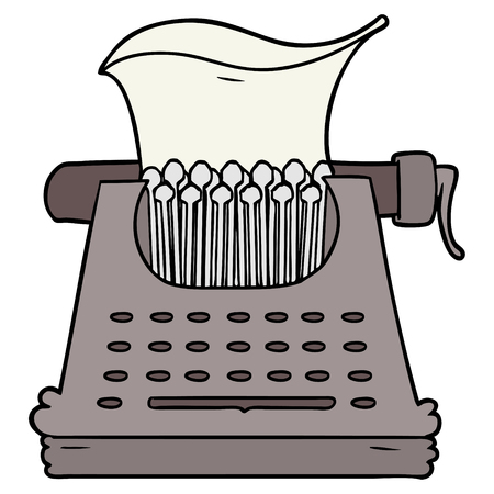 cartoon typewriter illustration