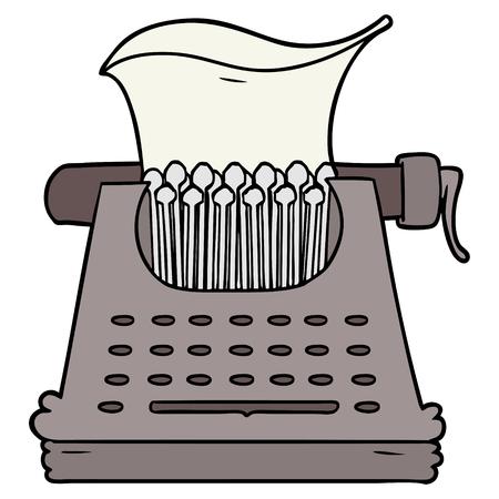 cartoon typewriter illustration
