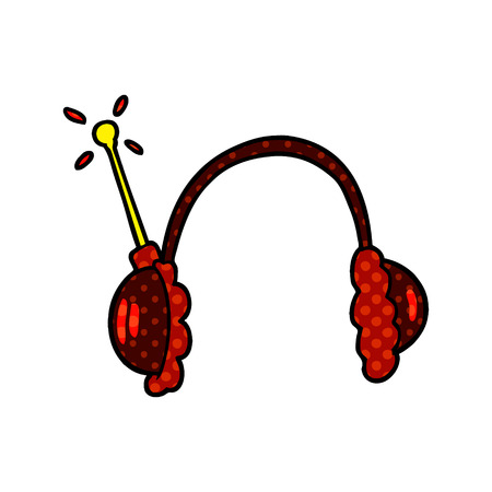 cartoon headphones Иллюстрация