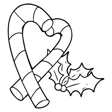 cartoon candy cane Ilustração