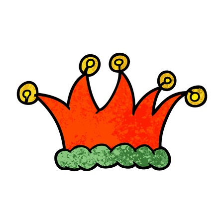 cartoon jester hat illustration