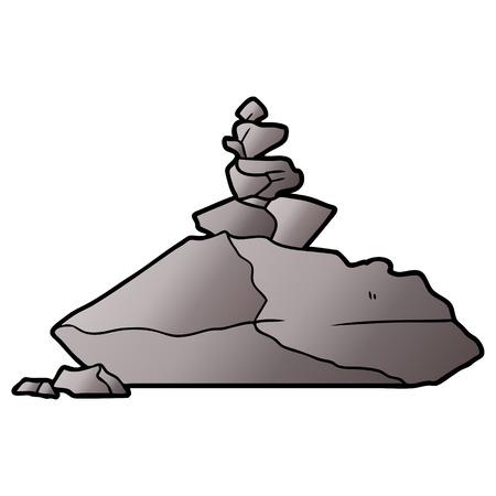 cartoon rocks illustration Illustration