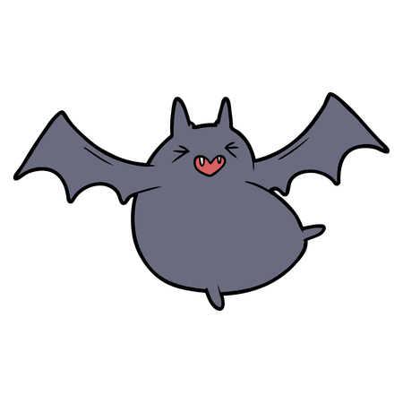 spooky cartoon bat illustration Çizim