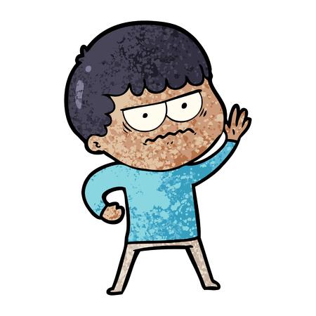cartoon annoyed man Illustration