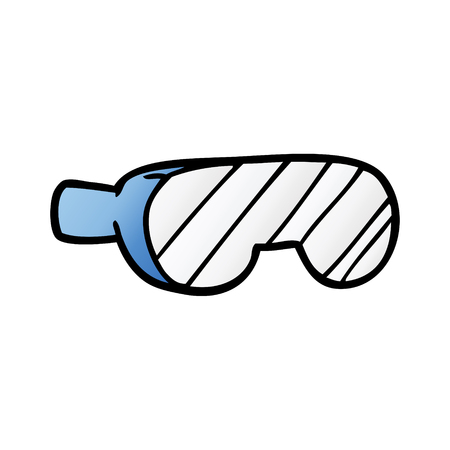 cartoon safety goggles illustration Illustration