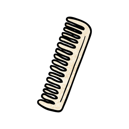 Cartoon comb illustration