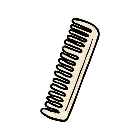 Cartoon comb illustration