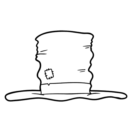 old top hat cartoon illustration Illustration