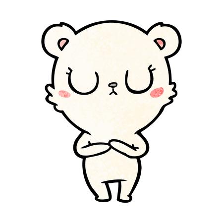 平和な漫画のホッキョクグマ