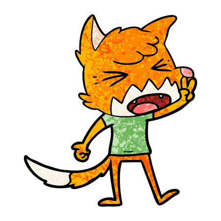 Angry cartoon fox