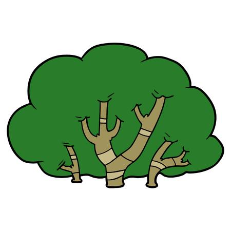 Cartoon trees illustration on white background. 版權商用圖片 - 96643497