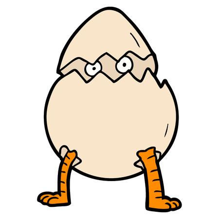 漫画の孵化卵  イラスト・ベクター素材